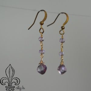 Amethyst Swarovski earrings